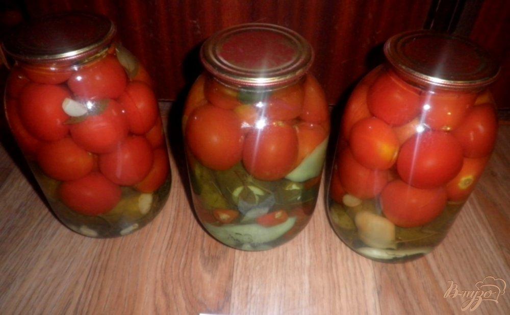 Фото приготовление рецепта: Консервированные овощи Лето в банке шаг №11