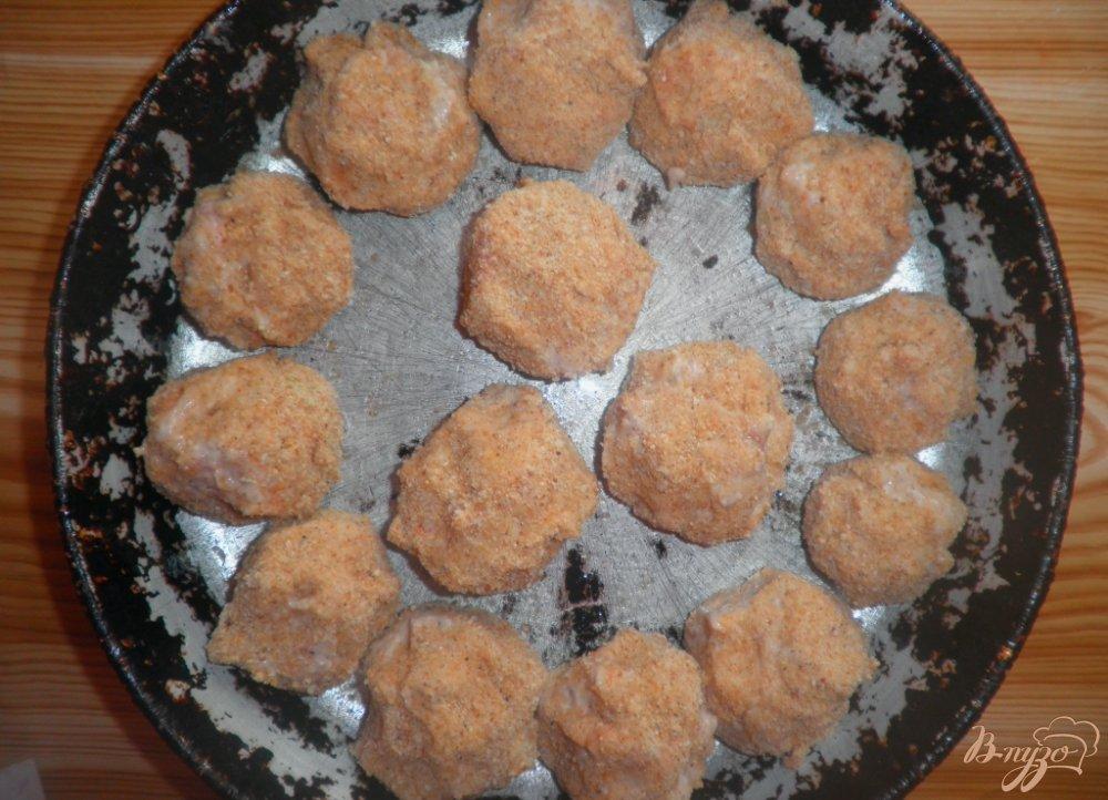 Фото приготовление рецепта: Тефтели Ежики в аэрогриле шаг №5