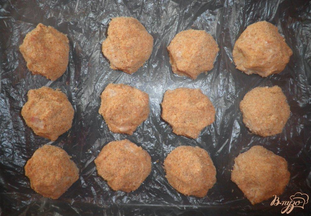 Фото приготовление рецепта: Тефтели Ежики в аэрогриле шаг №6