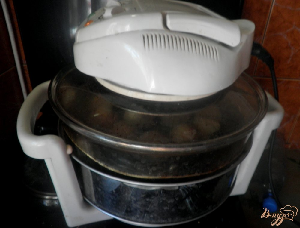 Фото приготовление рецепта: Тефтели Ежики в аэрогриле шаг №7