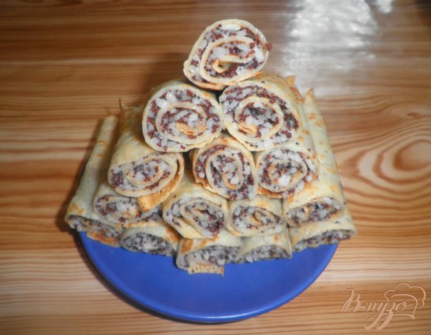 Рецепт Блинчики с рисом и маком