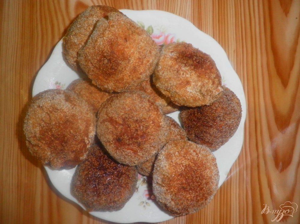 Фото приготовление рецепта: Печеночные котлеты в духовке шаг №9