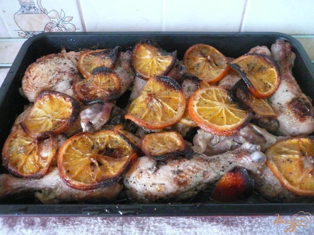 Фото приготовление рецепта: Апельсиновая курочка шаг №6