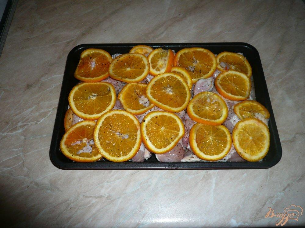 Фото приготовление рецепта: Апельсиновая курочка шаг №5