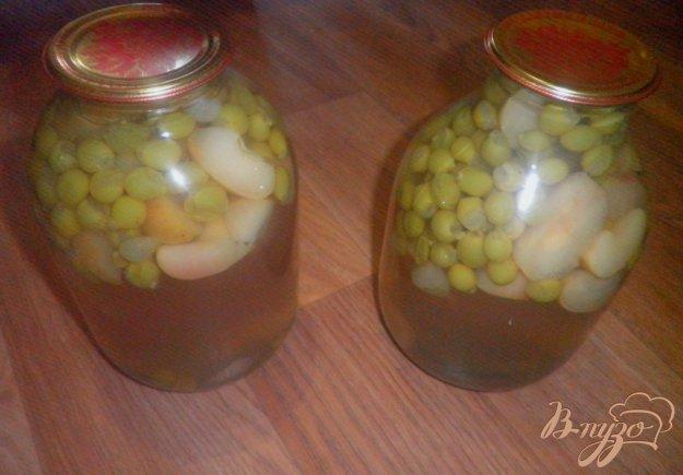 Рецепт Виноградно-яблочный компот на зиму
