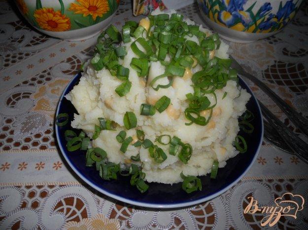 Рецепт Картофельное пюре с зеленым горошком