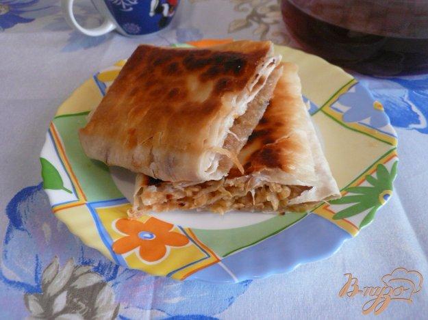 Рецепт Хрустящий конвертик из лаваша с яблочной начинкой