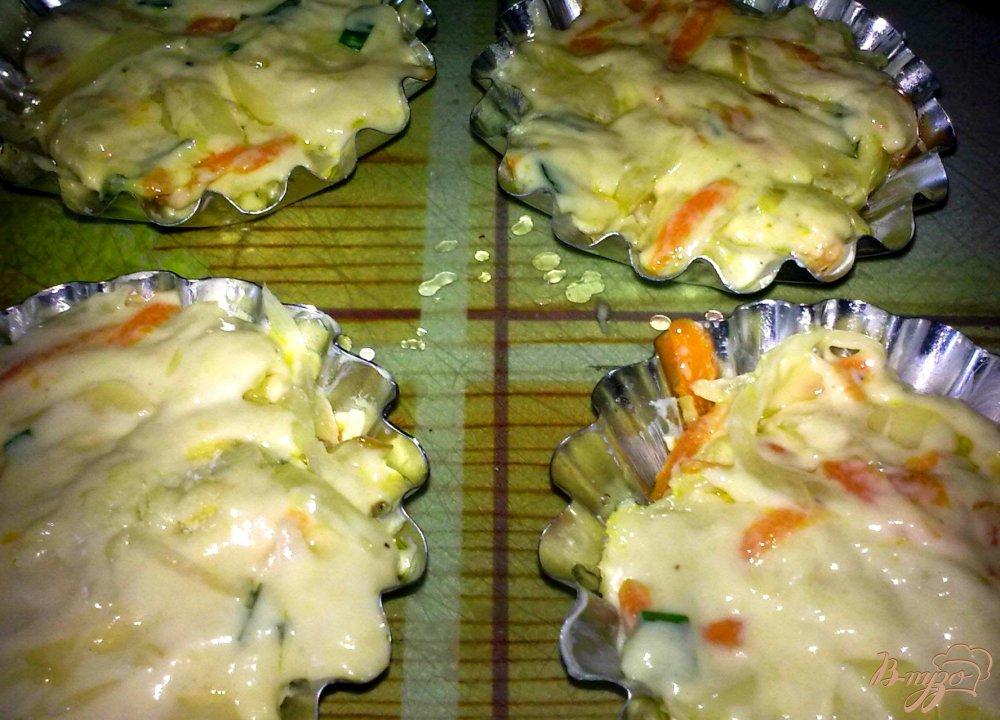Фото приготовление рецепта: Кексы капустные шаг №4