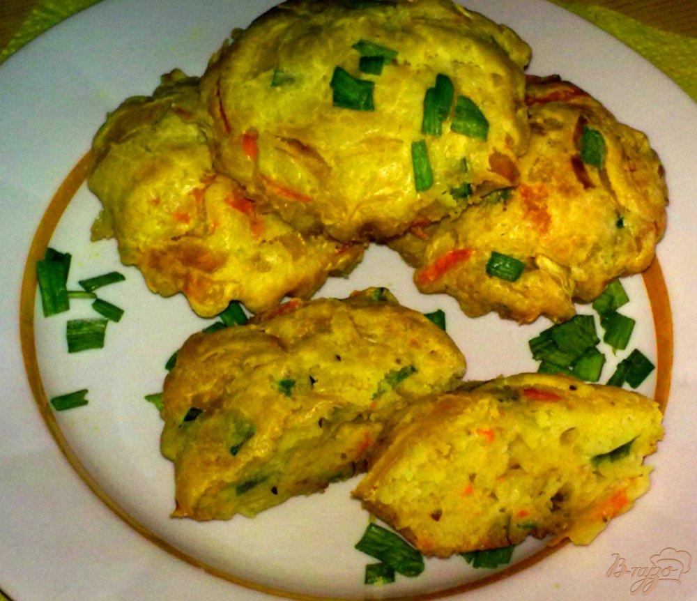 Фото приготовление рецепта: Кексы капустные шаг №5