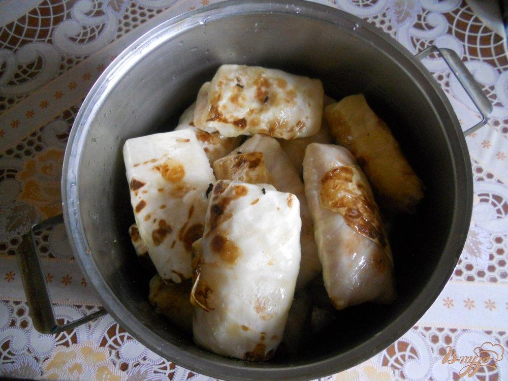 Фото приготовление рецепта: Голубцы в томатно-сметанном соусе шаг №13