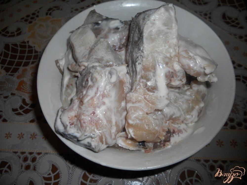 Фото приготовление рецепта: Треска в сметане шаг №2
