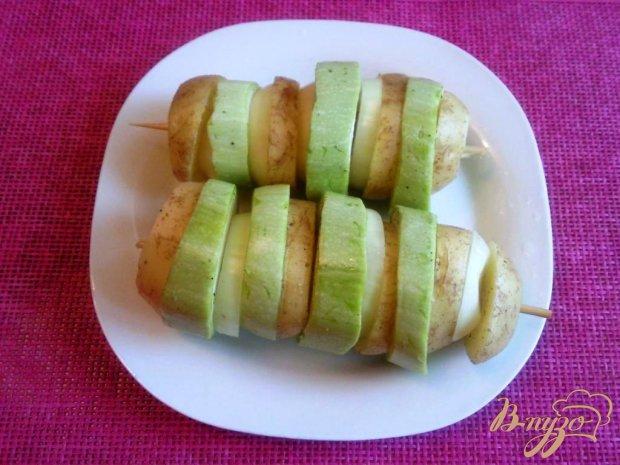 Овощи запеченный в фольге на шпажке
