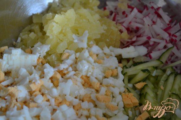 Овощная окрошка с цукини