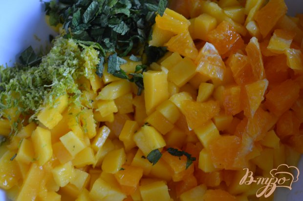 Фруктовый салат с перловой крупой