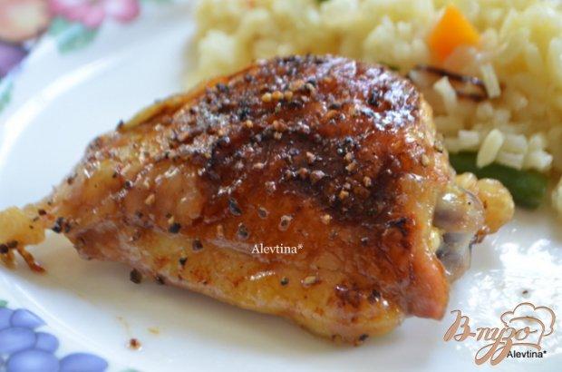 Куриные бедрышки с медово-розмариновой глазурью