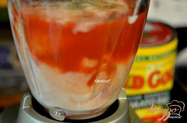 Холодный томатный суп с кефиром