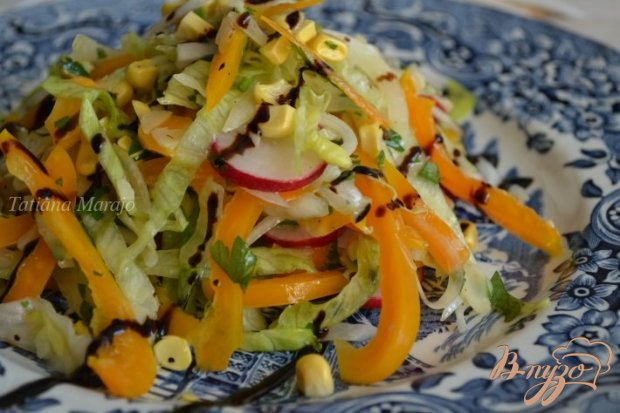 Овощной салат с миндалем
