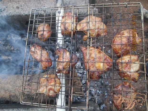 Мясо свинины на костре