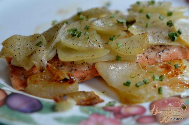 Семга с картофелем