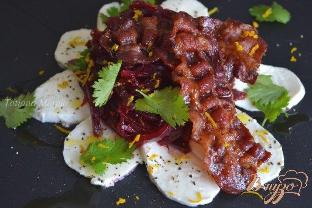 Свекольный салат с беконом