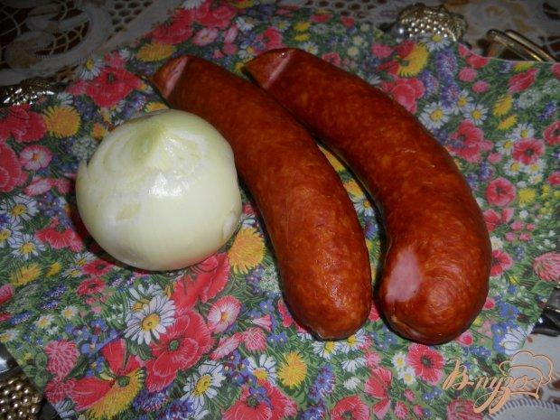 Тушеная капусты с баварскими колбасками