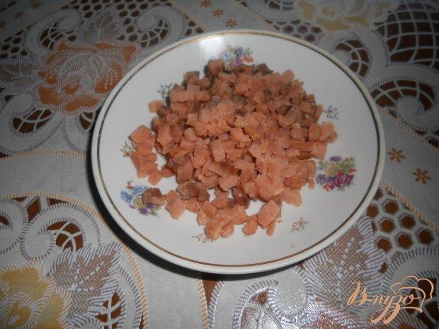 Рулет из лаваша с горбушей и сыром