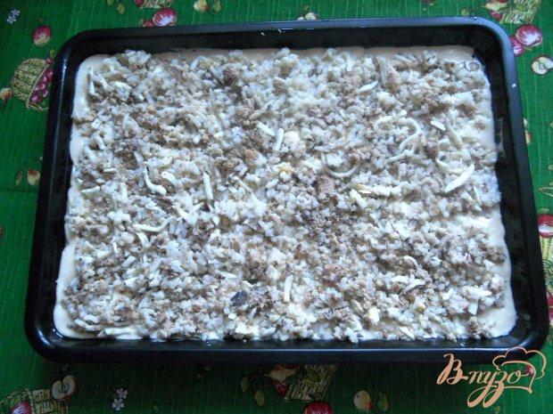 Быстрый пирог с консервами и рисом