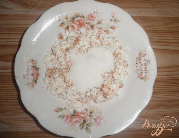 Десерт Персиковое наслаждение с творогом и шоколадом
