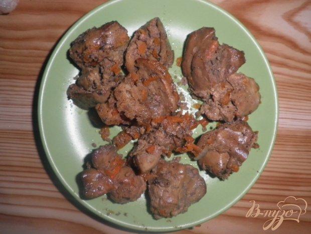 Жареная куриная печенка с луком