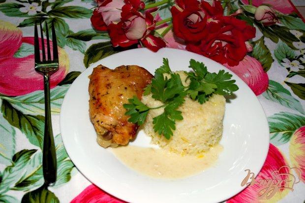 Курица под луковым соусом