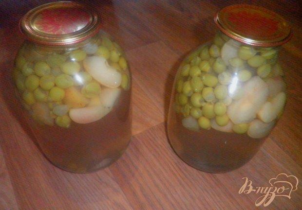 Виноградно-яблочный компот на зиму