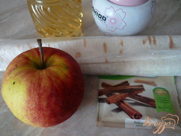 Хрустящий конвертик из лаваша с яблочной начинкой
