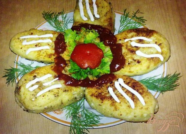 Творожные пирожки с грибами