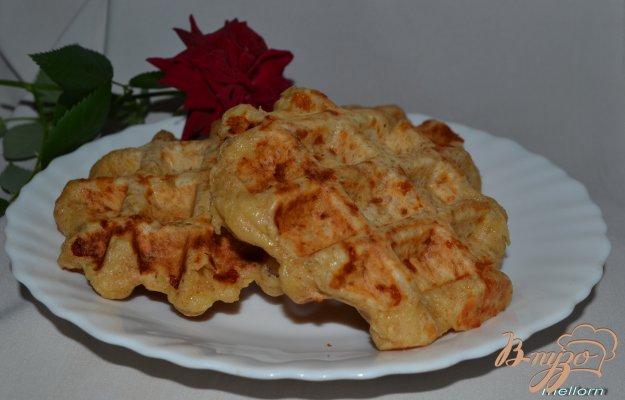 Рецепт Вафли из цельнозерновой муки с сыром и курицей