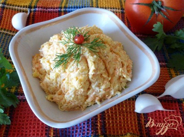 Рецепт Сырная закуска с морковью и чесноком