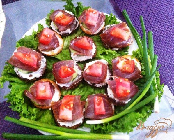 Рецепт Канапе с тунцом