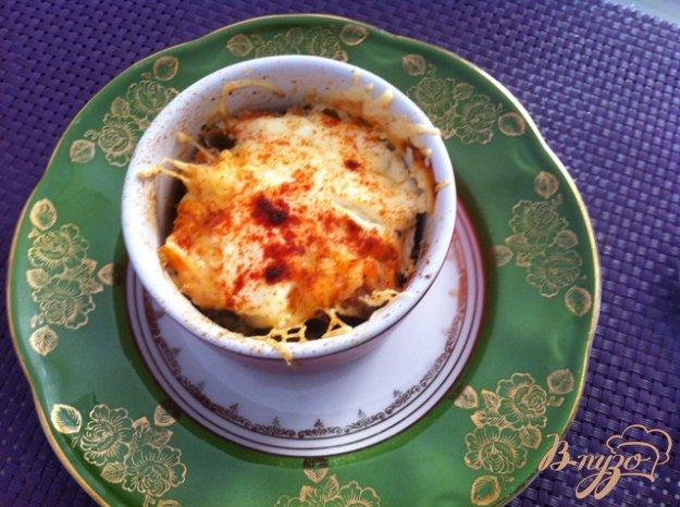 Рецепт Жульен с семгой и грибами