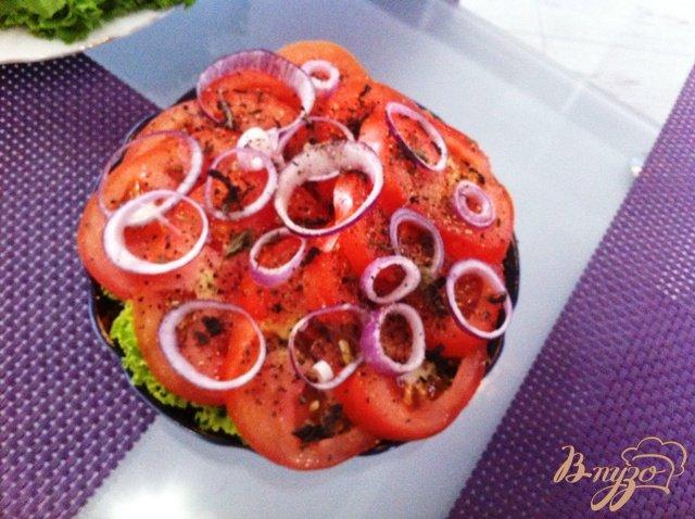 Фото приготовление рецепта: Закуска из помидор шаг №5