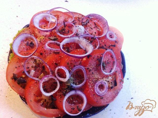 Фото приготовление рецепта: Закуска из помидор шаг №4