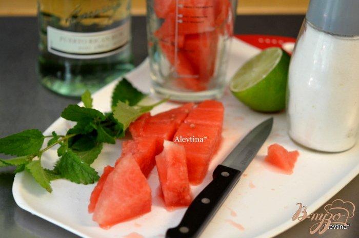 Фото приготовление рецепта: Арбузный мохито шаг №1