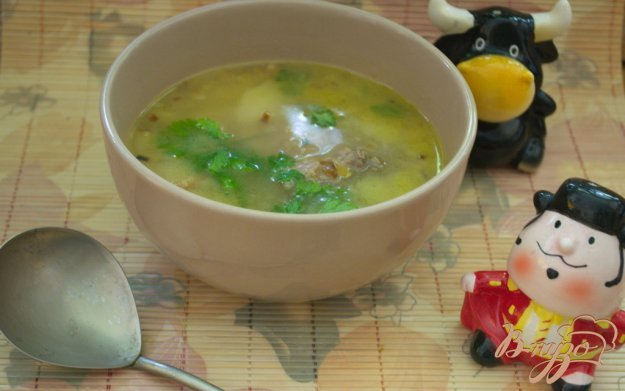 фото рецепта: Говяжий суп с  беконом