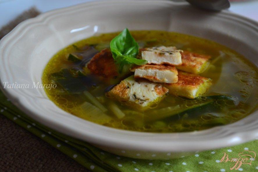 Фото приготовление рецепта: Овощной суп с омлетом шаг №7