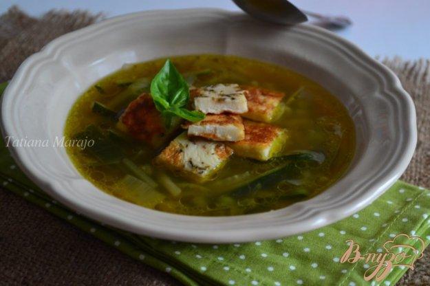 фото рецепта: Овощной суп с омлетом