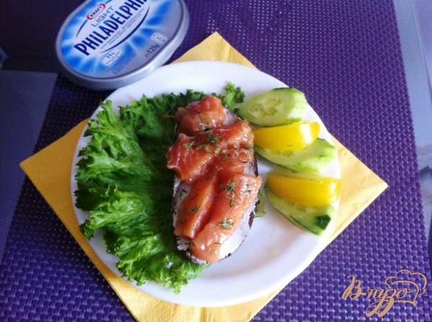 Рецепт Слабосоленый лосось в имбирном маринаде