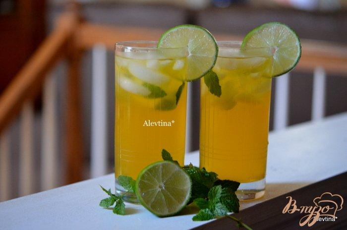 Фото приготовление рецепта: Чай Мохито со льдом шаг №3