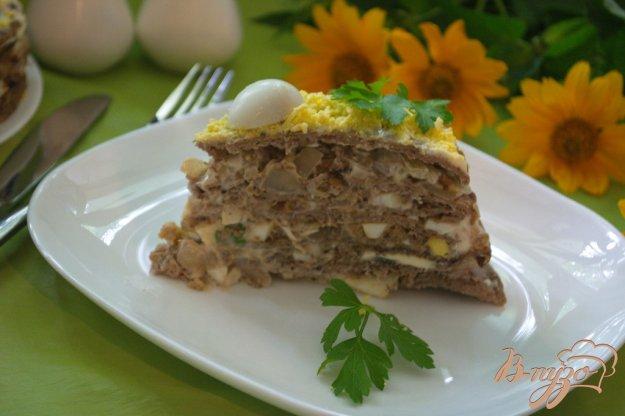 Рецепт Печеночный тортик с ореховым вкусом