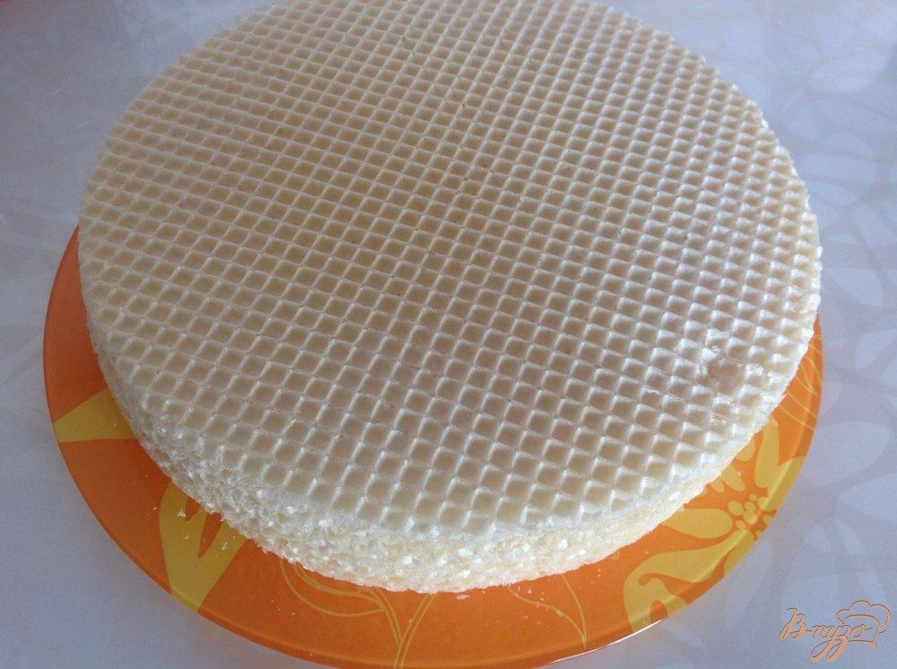 Фото приготовление рецепта: Вафельный торт со сгущенкой шаг №1