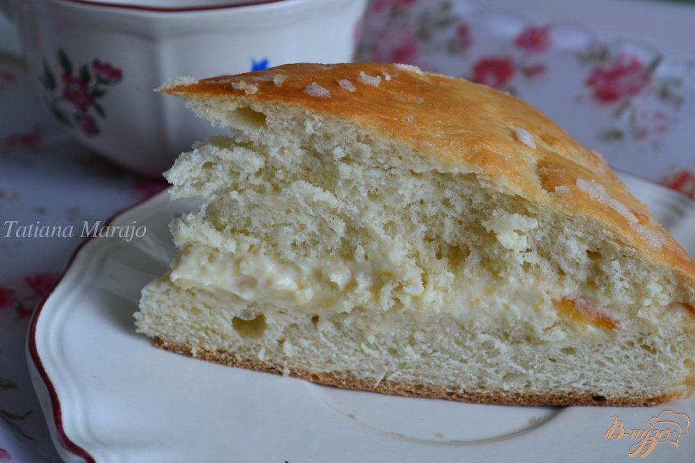 Фото приготовление рецепта: Медовый пирог с прослойкой из маскарпоне шаг №12