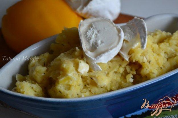 Рецепт Давленый картофель с козьим сыром