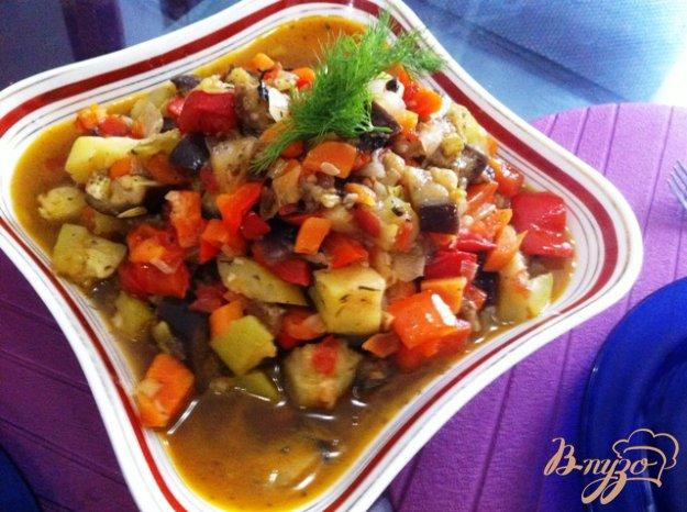 Рецепт Овощное рагу Писто Манчего